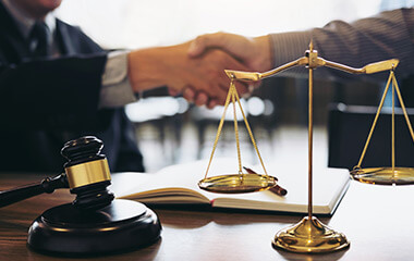 consultation and conference of professional businesswoman and Male lawyers working and discussion having at law firm in office